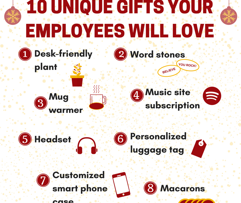 Infographic: Unique and Creative Gifts For Your Employees or Boss