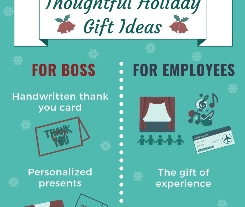 Infographic: Thoughtful Holiday Gift Ideas for Boss and Employees