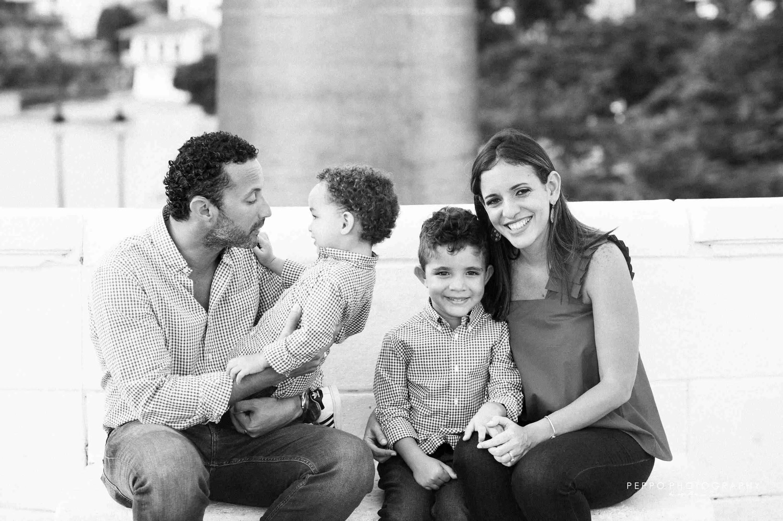 Retrato de Familia en dia de verano