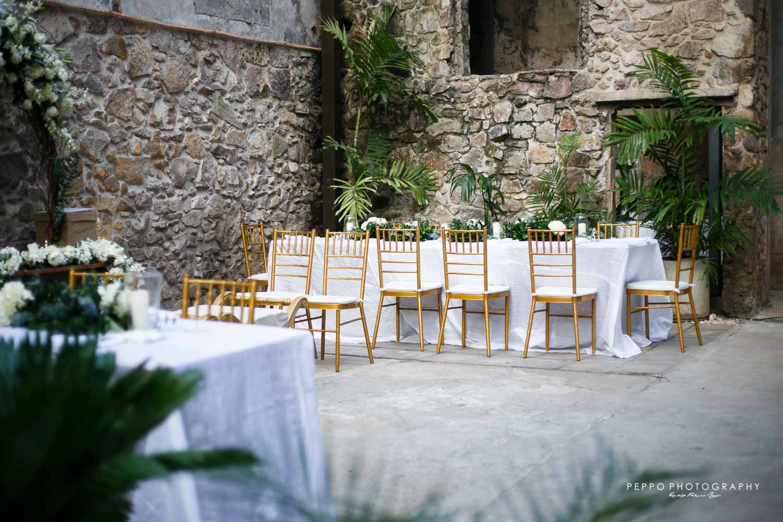 Esperando a los invitados de Johanna y Jorge
