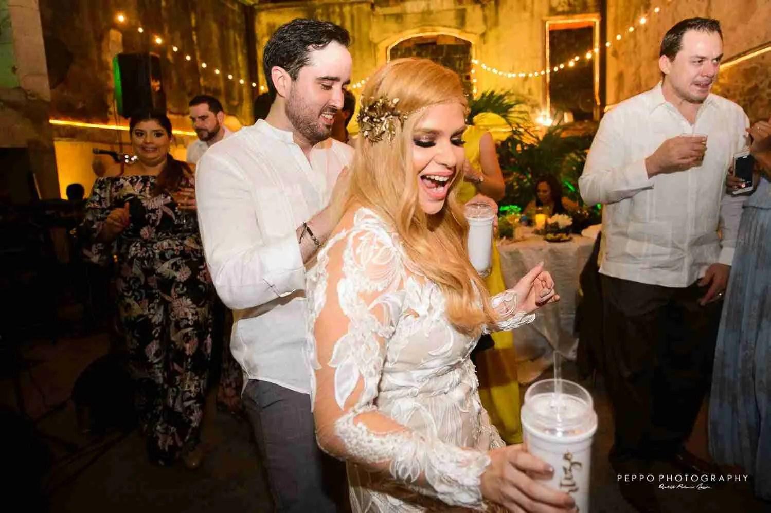 Newlyweds rocking the momen