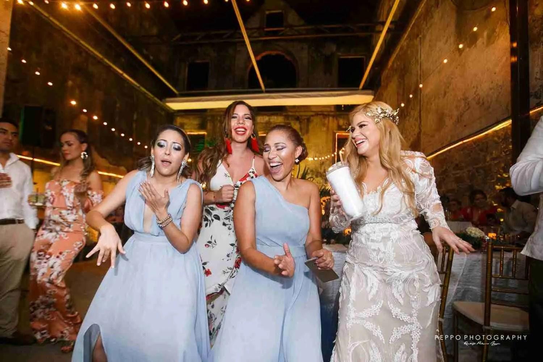 Bridesmaid on the dancing floor