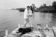 Shana y Ricardo en blanco y negro