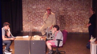 """JAIL SCENE W GEORGE AND """"STAGEHAND"""""""
