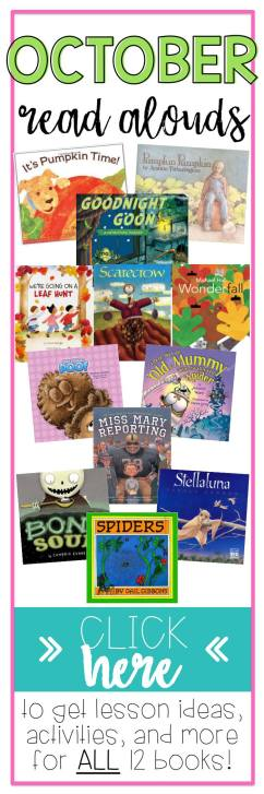 Elementary education teacher looking for read aloud books that are perfect for fall? These books have free lessons for reading comprehension, read aloud activities, and class fall crafts.