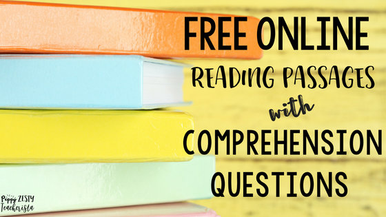 Free Online Reading Comprehension Websites – Peppy Zesty Teacherista