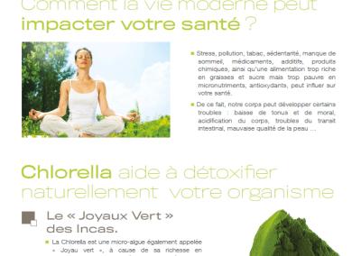 Fiche produit complément alimentaire Chorella – Laboratoire NATURALYS