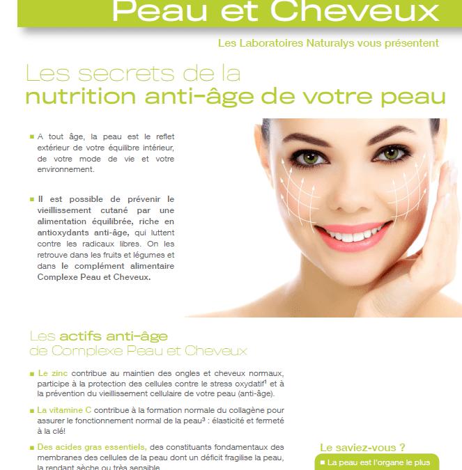 Fiche produit – Complexe peau et cheveux – Laboratoire Naturalys