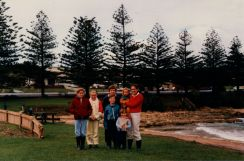Our family at Port Campbell Beach. ~1985