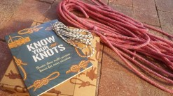 A knots book and long rope