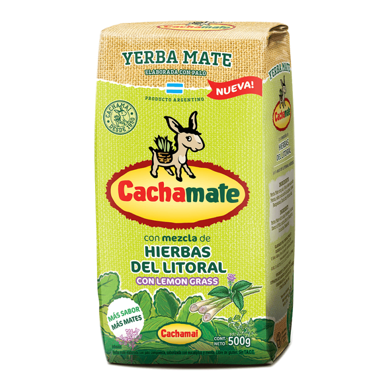 Cachamate Hierbas del Litoral Yerba Mate 500 g