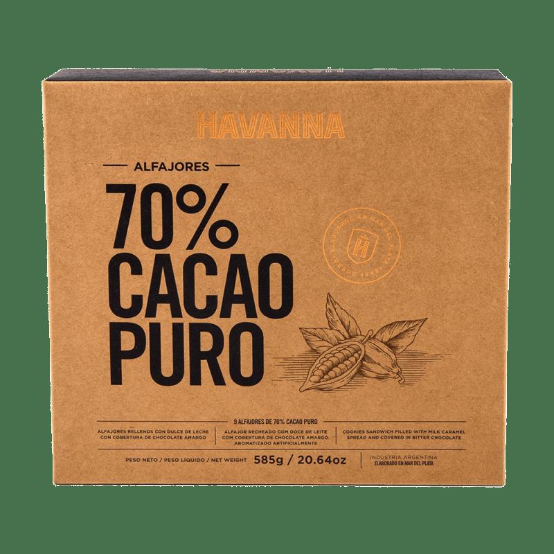 Alfajores 70% Cacao Havanna 9 unidades