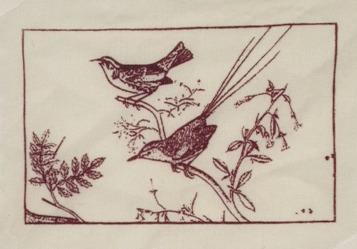 pájaros y hojas