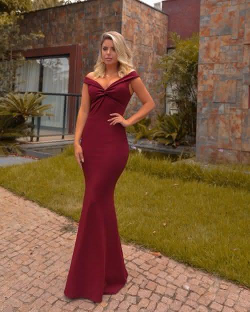 Vestido de Festa Marsala Madrinha 2022 Madrinha