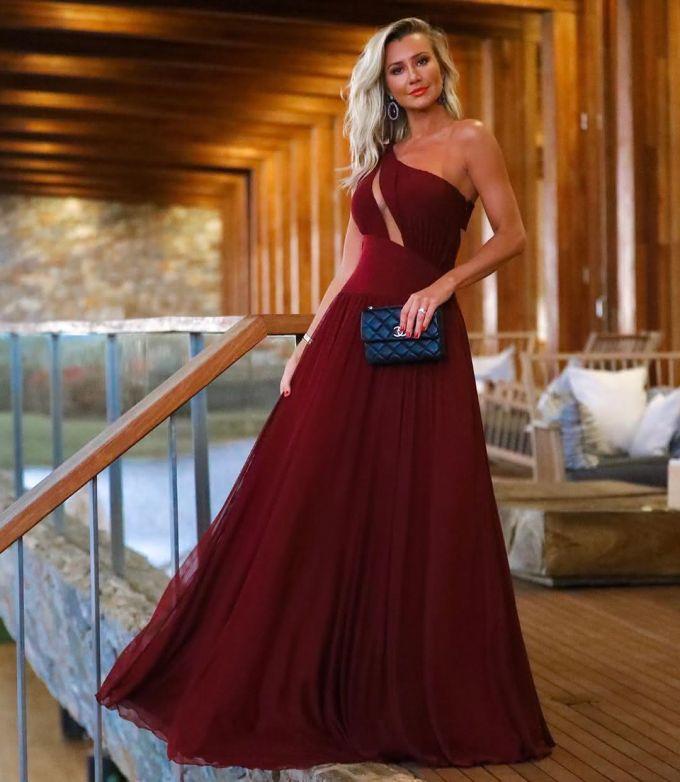 Vestido de Festa Marsala 2022 Longo