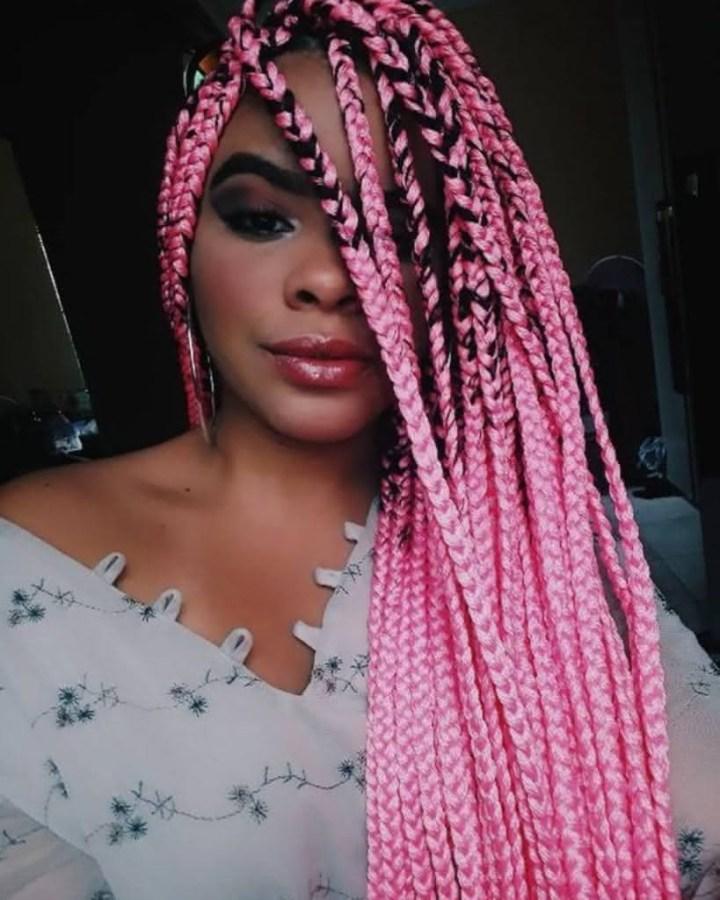 Box Braids rosa