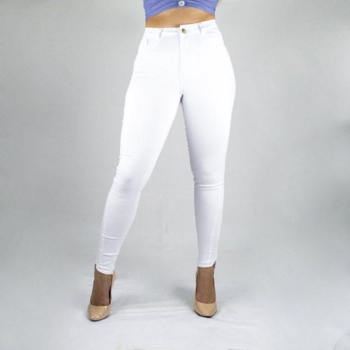 Calça Cintura Alta Branca