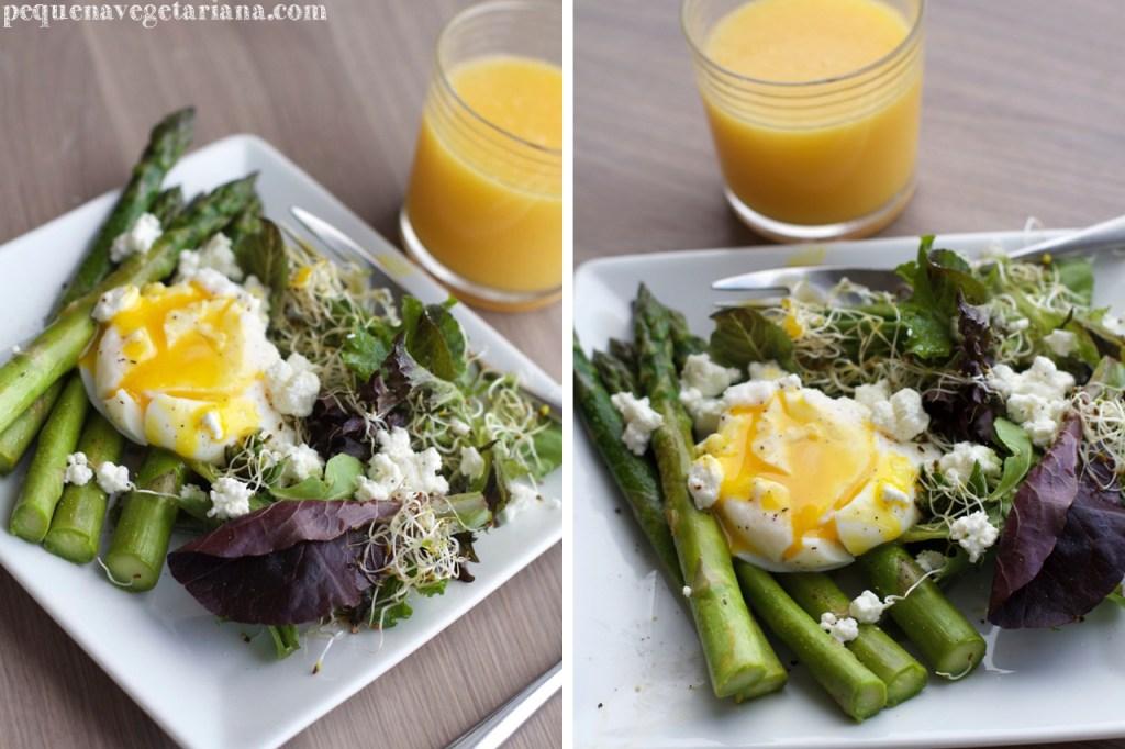 Receita de aspargo para o almoco, receita vegetariana com ovo e aspargo