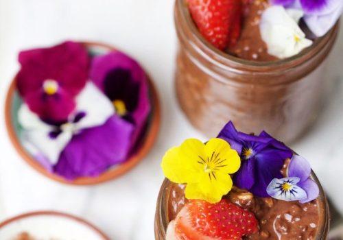 Pudim de chocolate vegano saudável