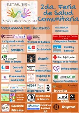 Programa de la Feria de Salud Comunitaria en el Ensanche de Vallecas.