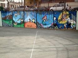 El mural del patio