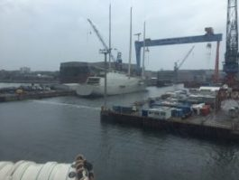 Russisk yacht under bygging...
