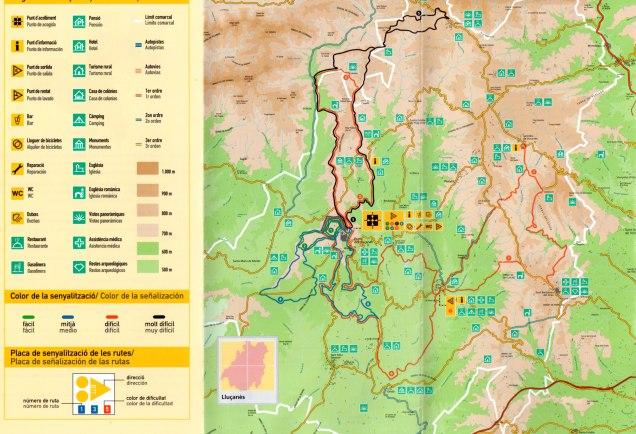 Mapa rutes BTT