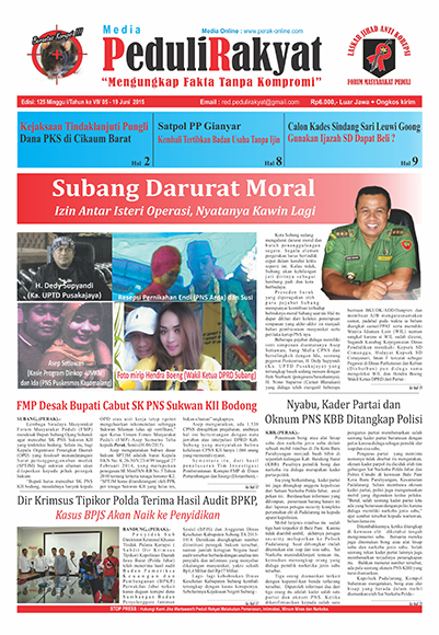Koran Subang Peduli Rakyat Edisi 125