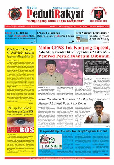 Koran Subang Peduli Rakyat Edisi 128