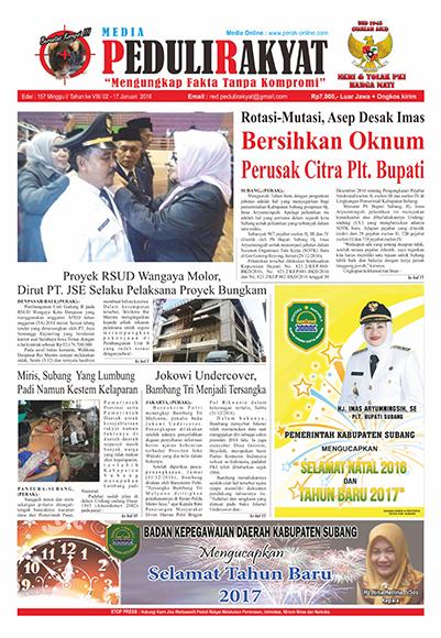 Koran Subang Peduli Rakyat Edisi 157