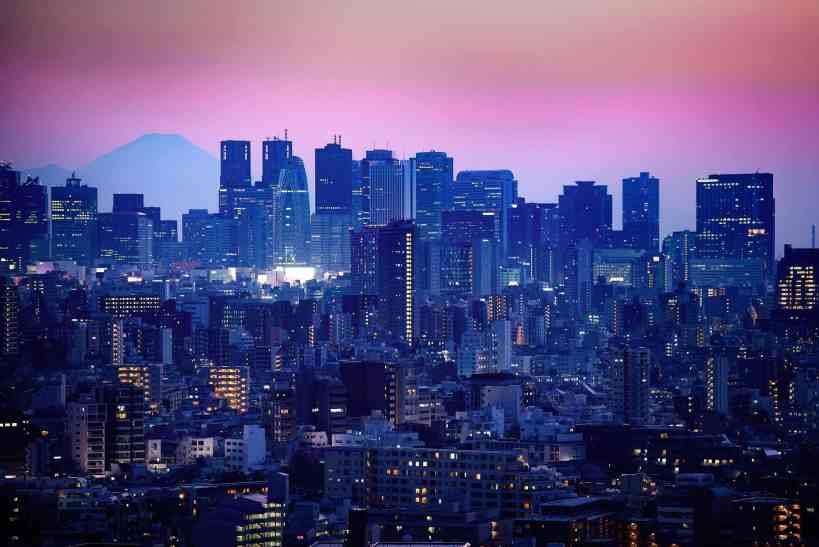 Tokyo's Shinjuku at sunset
