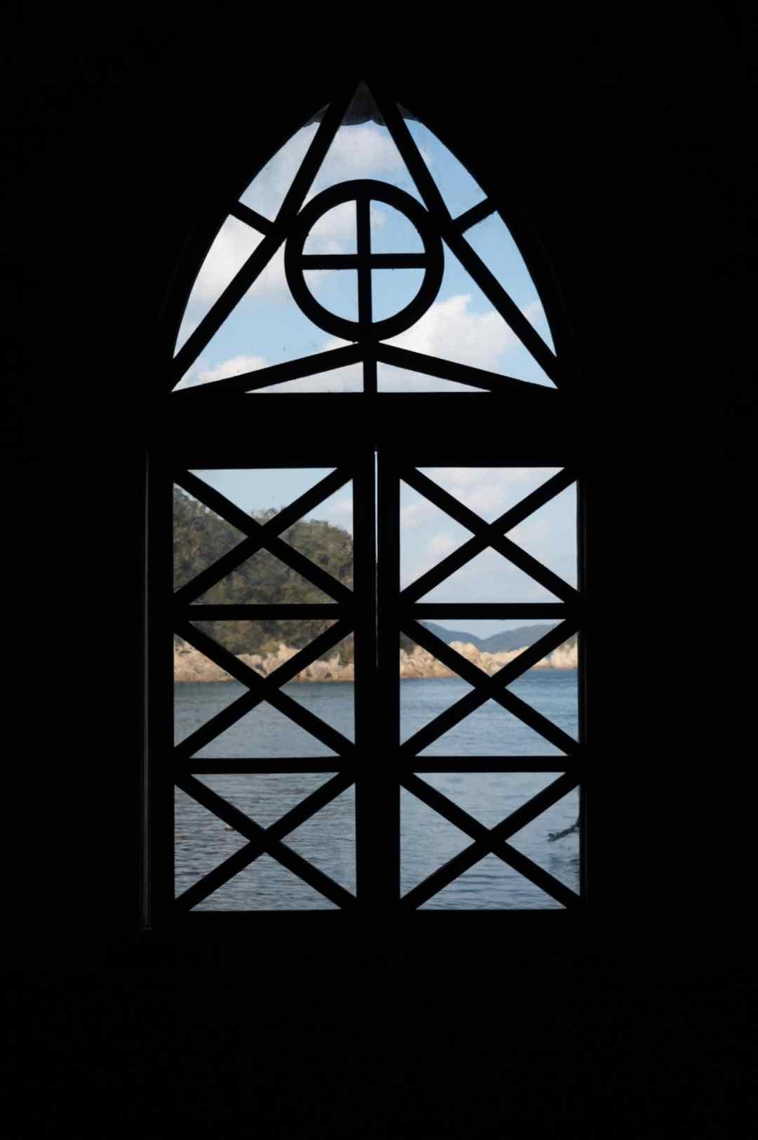 looking through window of gorin church