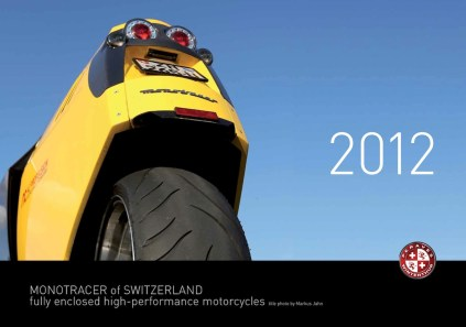 2012 MonoTracer of Switzerland Calendar - Cover