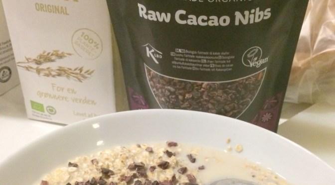 Cacao på havregryn
