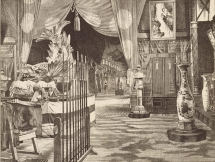 Autre gravure, montrant le shachihoko parmi les autres objets exposés à Vienne en 1873