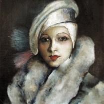 Autoportret s bijelom tokom, 1929.