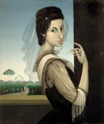 Autoportret sa velom, 1939.