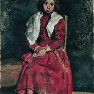 Djevojčica bosih nogu, Coruña, početak 1895.