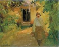 Čovjek u vrtu, 1912.