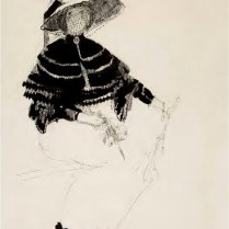 Žena na klupi, 1912.