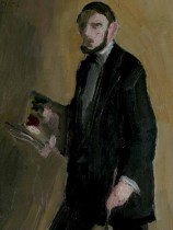 Autoportret s paletom, 1912.