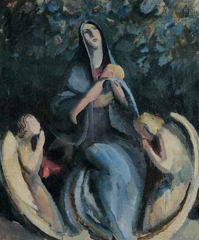 Bogorodica s anđelima, 1912.