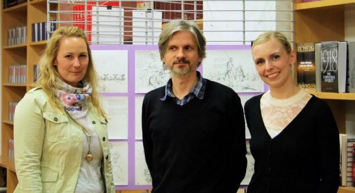 S otvorenja izložbe - Klara Čičin-Šain, Dubravko Kastrapeli, Sonja Švec Španjol, foto: Juraj Vuglač