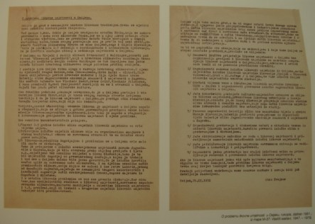 O problemu likovne umjetnosti u Osijeku, 1951.