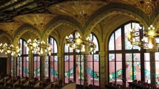 Palau de la Música Catalana - unutrašnjost - gledalište