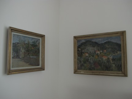 lijevo: Jerolim Miše - Majsko jutro, desno: Vilko Šeferov - Jesen na Lapadu