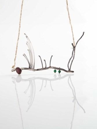 Zdravka Radić - Provence ogrlica (srebro, aventurin, rubin), foto: Mario Majcan