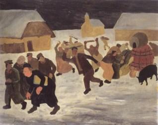 Đelekovečka buna, 1936., ulje na kartonu
