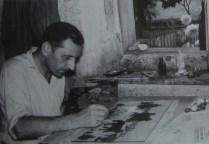 Generalić slika - foto Tošo Dabac, 1958.