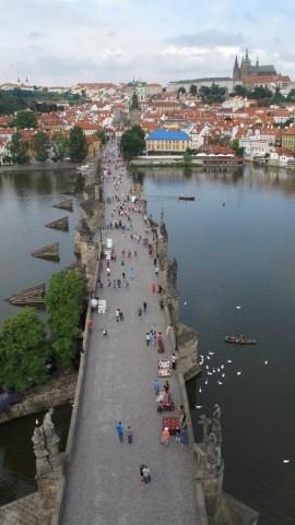 Pogled sa Starogradskog tornja -Karlov most